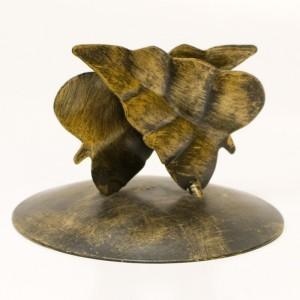 Serwetnik z liściem anturium